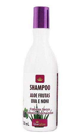 Shampoo Aloe Frutas Uva e Noni – 300ml – Live Aloe