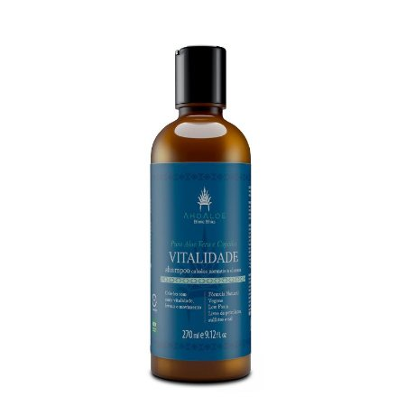 Shampoo Natural Vitalidade 270ml - AhoAloe