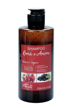 Shampoo Natural e Vegano Romã e Amora 250ml - Arte dos Aromas