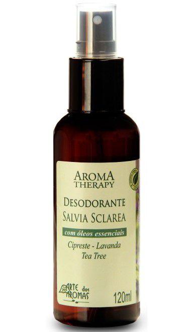 Desodorante Natural de Sálvia Sclarea em Spray 120ml - Arte dos Aromas