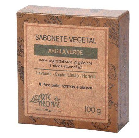 Sabonete Vegetal Natural de Argila Verde 100g - Arte dos Aromas