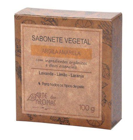 Sabonete Vegetal Natural de Argila Amarela 100g - Arte dos Aromas
