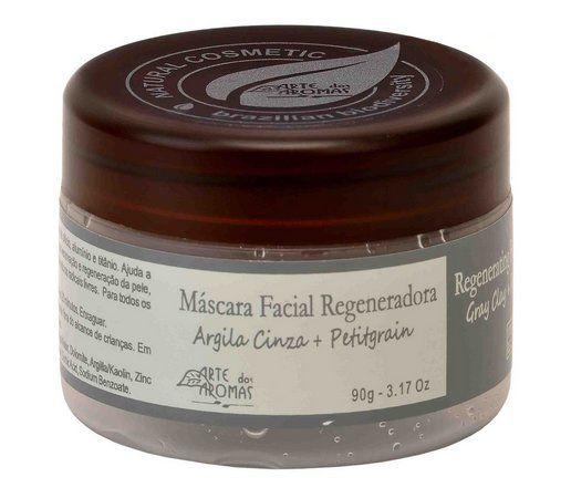 Máscara Facial Natural Regeneradora Argila Cinza e Petitgrain 90g - Arte dos Aromas