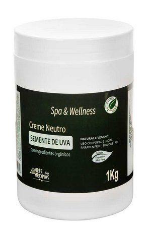 Creme Neutro para Massagem Natural com Óleo de Semente de Uva 1kg - Arte dos Aromas