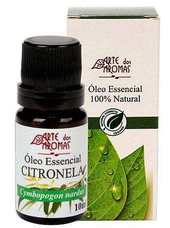 Óleo Essencial de Citronela 10ml - Arte dos Aromas