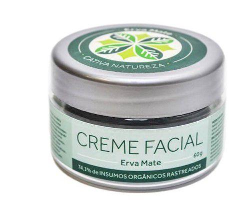 Creme Hidratante Facial Natural Erva Mate 60g - Cativa Natureza