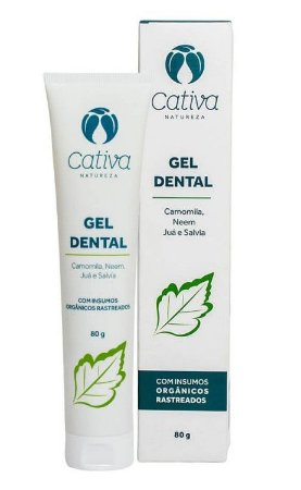 Gel Dental Orgânico Menta  80G - Cativa Natureza