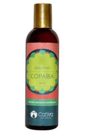 Shampoo Natural de Copaiba 240ml - Cativa Natureza