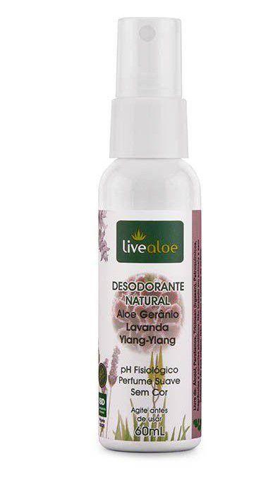 Desodorante Natural de Aloe e Gerânio 60ml – Livealoe