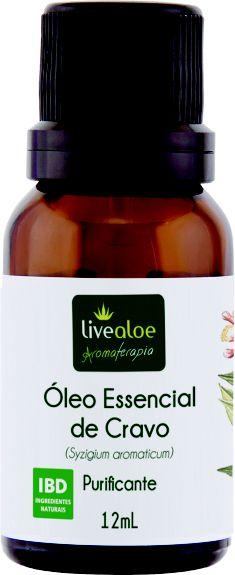 Óleo Essencial Natural de Cravo 12ml - Livealoe