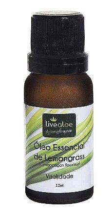 Óleo Essencial Natural de Lemongrass 12ml -Livealoe