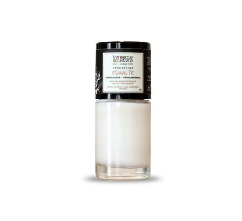 Esmalte Hipoalergênico Fortalecedor Natural e Vegano 626 Bright White 10ml - Twoone Onetwo