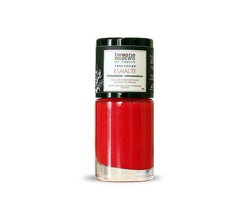 Esmalte Hipoalergênico Fortalecedor Natural e Vegano 624 Poppy Red 10ml - Twoone Onetwo