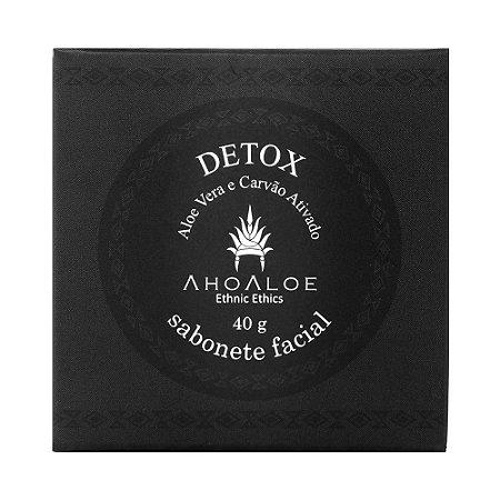 Sabonete Facial Detox de Carvão Ativado Orgânico e Natural 40g – AhoAloe