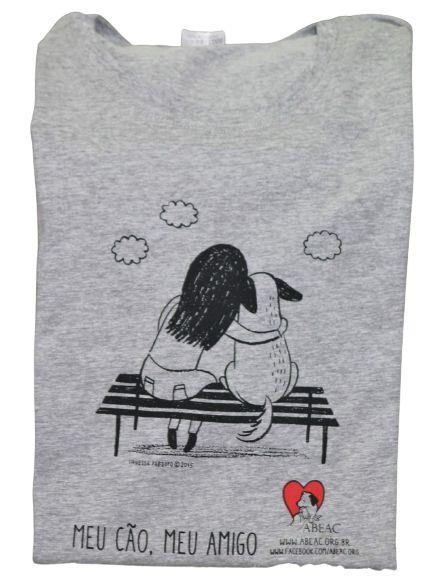 Camiseta Baby Look Meu Cão Meu Amigo