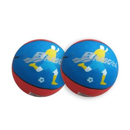 Mini bola de basquete com 2 und.