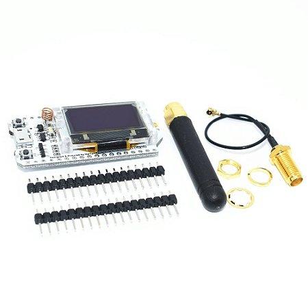 Sx1276 Lora Esp32 0 96 Polegada Azul Display Oled Bluetooth