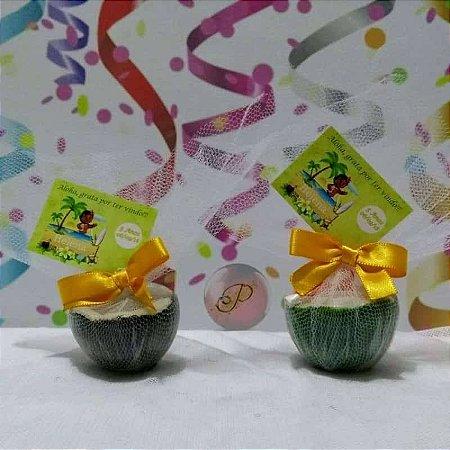 Lembrancinha Infantil Aniversário Festa Moana Sabonete Coco