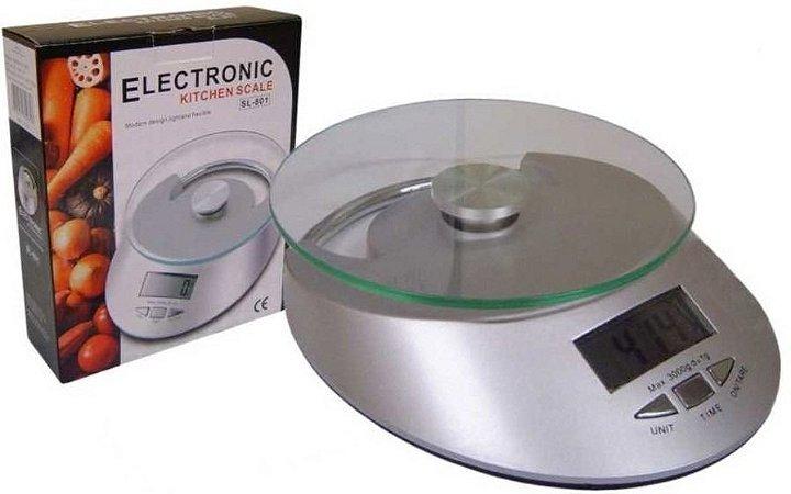 Balança Digital Cozinha - alta Precisão 1g Á 5kg Prato Vidro