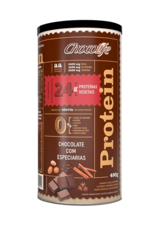 Chocolife Protein Vegan - Chocolate com Especiarias (480g)