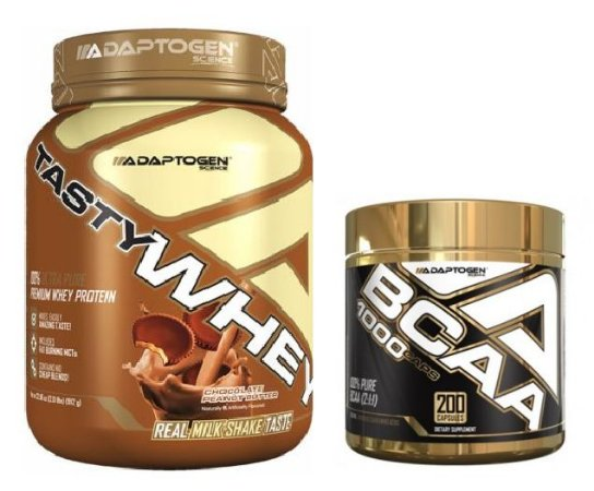 Combo Tasty whey (908g) + BCAA 1000MG (200 CAPS) - ADAPTOGEN SCIENCE