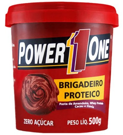 Pasta de Amendoim Brigadeiro Proteico (500g) - Power One