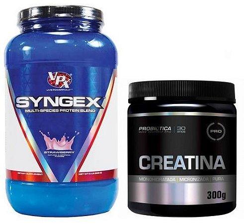 Combo Syngex whey blend 908g Vpx + Creatina pura 300g Probiotica