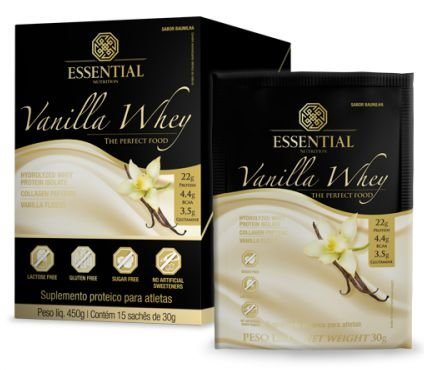 Vanilla Whey sachê de 30g - Essential Nutrition