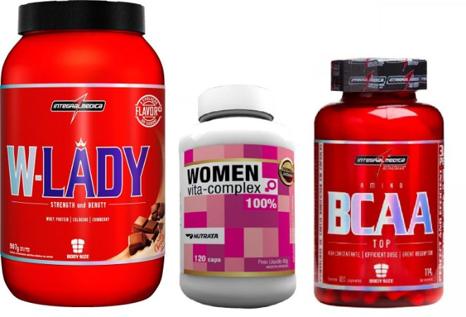 W-lady Whey + BCAA TOP (120 caps) + Women Vita-Complex (120 caps)
