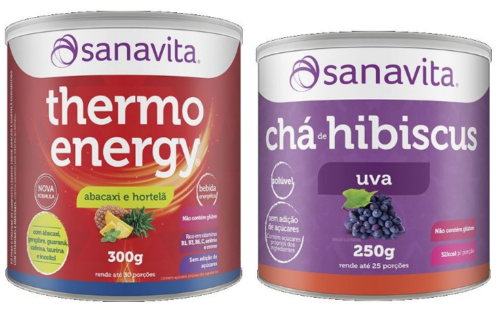 Thermo Energy 300g + Chá de Hibiscus 250g Sanavita