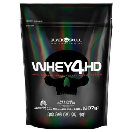 WHEY 4HD (837g) Refil- BLACK SKULL