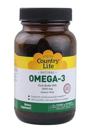 ÔMEGA 3 COUNTRY LIFE 1000MG (300 Softgels)