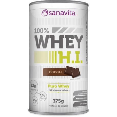 Whey Protein Isolado  100% WHEY H.I.  375g - Sanavita