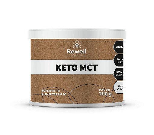 KETO MCT EM PÓ 200G  - REWELL