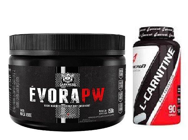 ÉVORA PW DARKNESS (150G) + L-CARNITINE (90 CAPS) BODYACTION