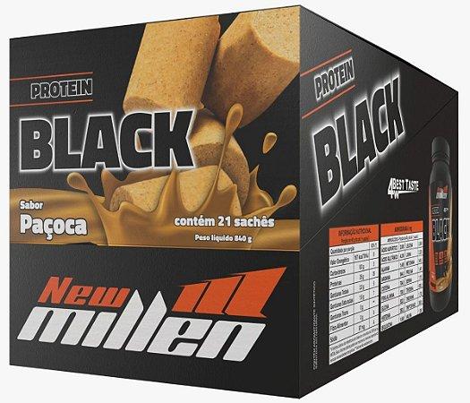 Protein Black Whey - Caixa Com 21 Sachês - New Millen