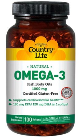 Omega-3 (100 softgels) - Country Life