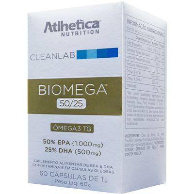 Biomega 50/25 Ômega TG - CleanLab (60 Cápsulas) Atlhetica Nutrition
