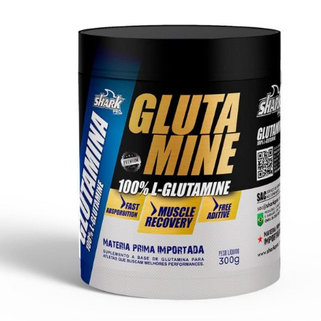 GLUTAMINE 300G  NATURAL - SHARK PRO