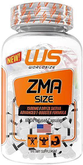 ZMA Size  (60 CAPS) - World Size - composto de vitaminas e minerais com vitamina B6, magnésio e zinco