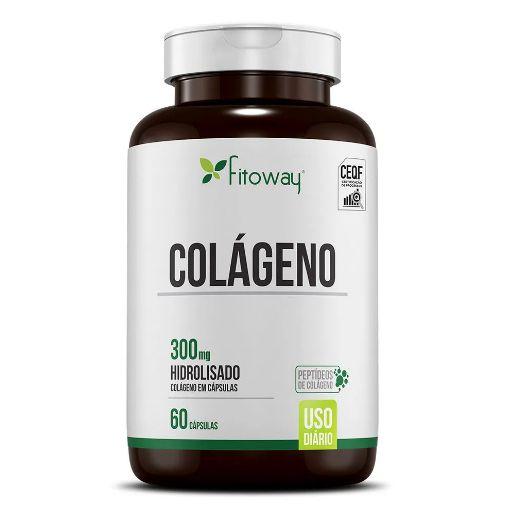 Colágeno Hidrolizado 300mg 60 cáps - Fitoway