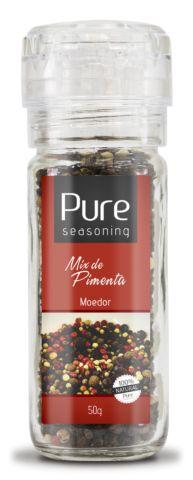 Mix de Pimenta 50g Com Moedor - Pure Seasoning