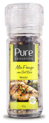 Mix Frango com Sal Rosa 65g com Moedor - Pure Seasoning