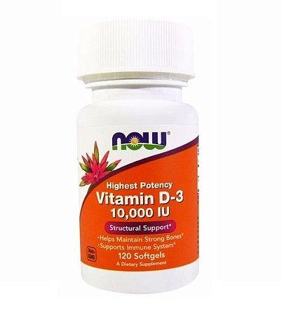 Vitamina D3 10.000 UI 120 Softgels - Now Foods
