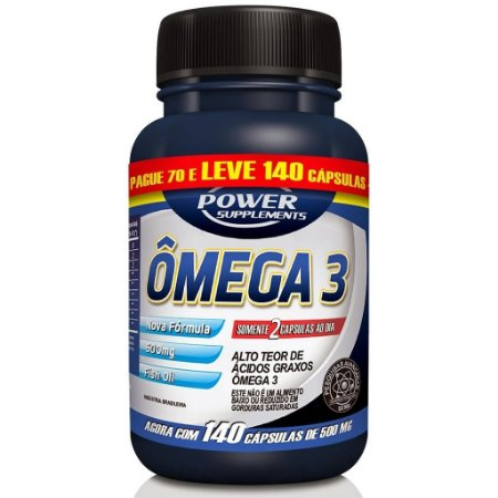 Ômega 3 (140 caps)  500mg - Power Supplements