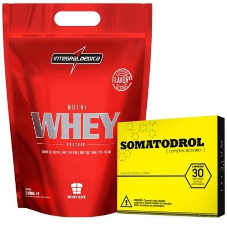 Combo com Nutri Whey Protein Refil (1,8kg) + Somatodrol (30 comp)