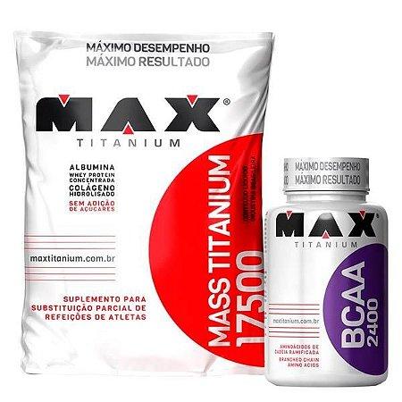 Combo com Mass Titanium (3kg) + BCAA 2400 (200 caps) - Max Titanium