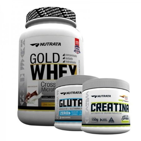 Combo Gold Whey (900g) + Glutamin Up (150g)   + Creatina Pure (150g) Nutrata