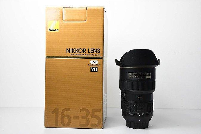 LENTE NIKON AF-S NIKKOR 16-35MM F/4G ED VR  /  USADA