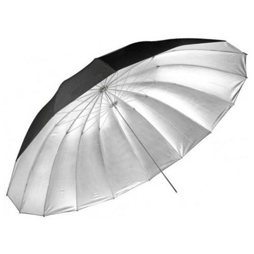 Sombrinha Rebatedora Preta Prata Branca 190cm Bw16-75 Greika
